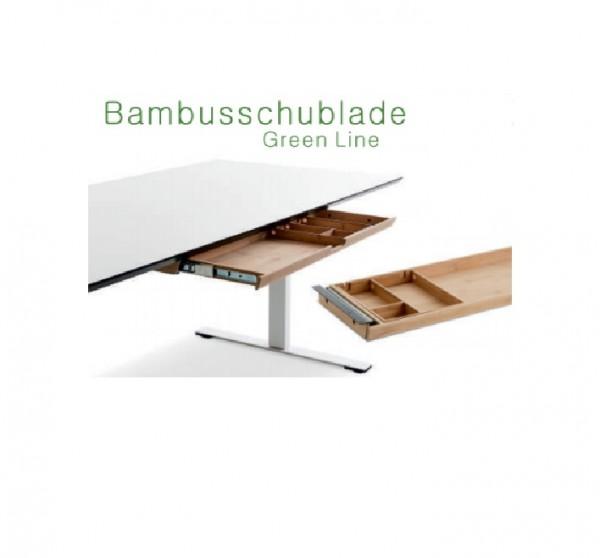 Bambus-Materialschublade, Green Line, breite Version 785mm