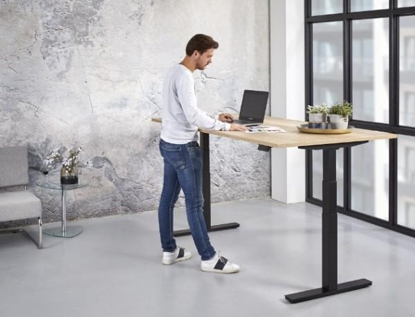 Schreibtisch motorisch Steh-/Sitz, Modell Dollart, mit Fit-APP