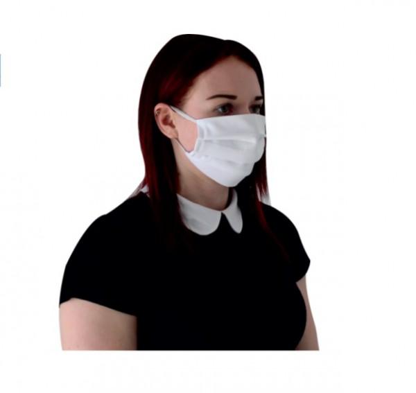 Behelfsmundschutz Mund- und Nasen-Maske Baumwolle mit Gummizug
